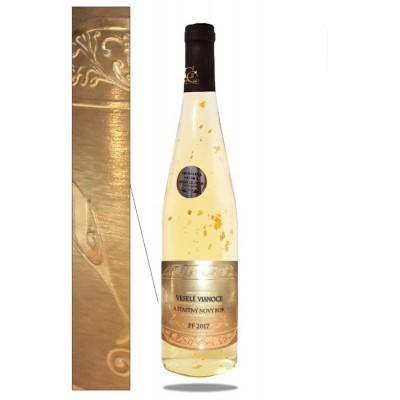 0,75 L Gold Cuvee víno so zlatom Vianočné želanie - Nový rok PF 2018