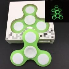 Fidget Spinner LIGHT zelený svietiaci
