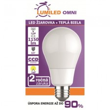 LED ŽIAROVKA E27 12W TEPLÁ BIELA, 1150 LM SMD 2835