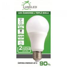 LED ŽIAROVKA E27 15W SMD2835 CCD TEPLÁ BIELA 1450LM