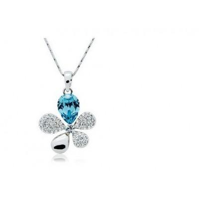 Swarovski náhrdelník kvietok strieborný