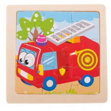 Detské puzzle: Hasiči - 9ks