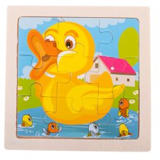 Detské puzzle: Kačička - 9ks