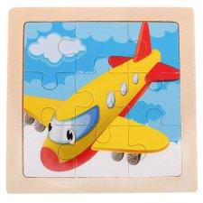 Detské puzzle: Lietadlo - 9ks