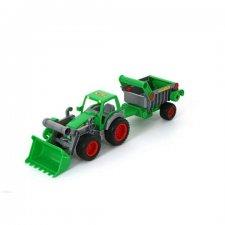 Farmársky traktor s návesom