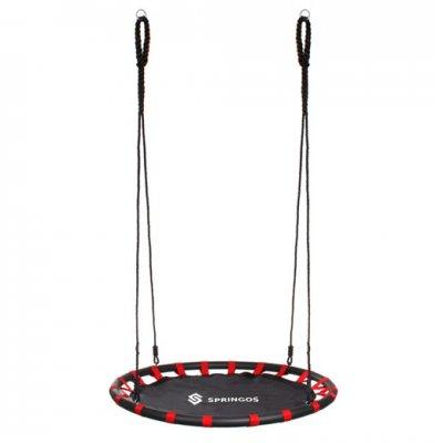 Hojdací kruh bocianie hniezdo - 110 cm - čierno-červené