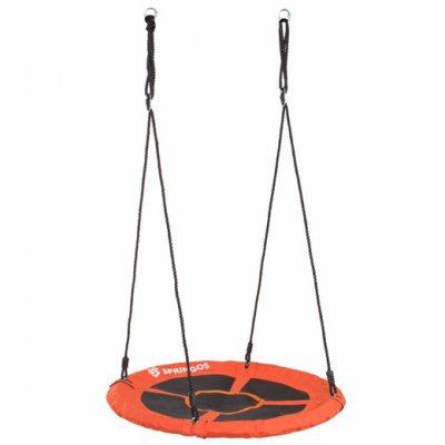 Hojdací kruh bocianie hniezdo - 90 cm - čierno-oranžové