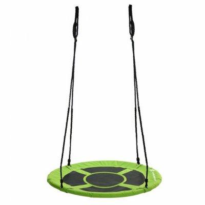Hojdací kruh bocianie hniezdo - 90 cm - čierno-zelená