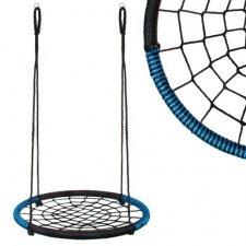 Hojdací kruh pavučina - 100 cm - čierno-modrý