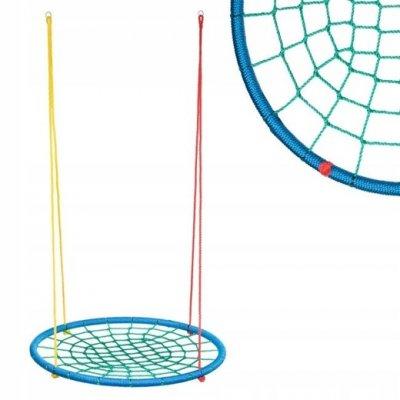 Hojdací kruh pavučina - 100 cm - multicolor