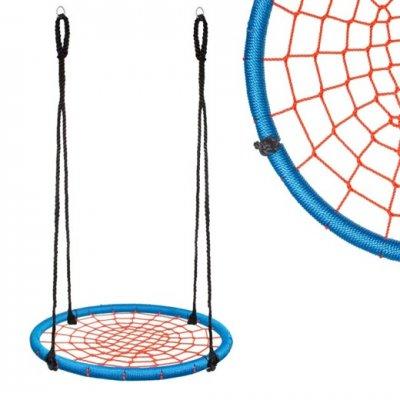 Hojdací kruh pavučina - 120 cm - čierno-modrý