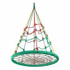 Hojdací kruh pavučina  Ihlan - 100 cm - multicolor