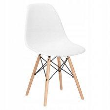 SPRINGOS Jedálenská stolička Milano modern - biela - 1ks