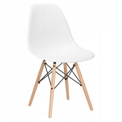 SPRINGOS Jedálenská stolička Milano modern - biela - 4ks