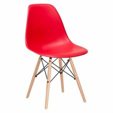 SPRINGOS Jedálenská stolička Milano modern - červená - 4ks