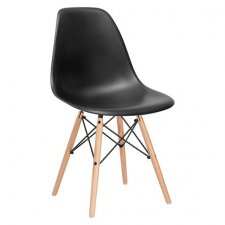 SPRINGOS Jedálenská stolička Milano modern - čierna - 4ks