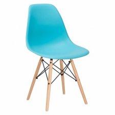 SPRINGOS Jedálenská stolička Milano modern - modrá - 1ks