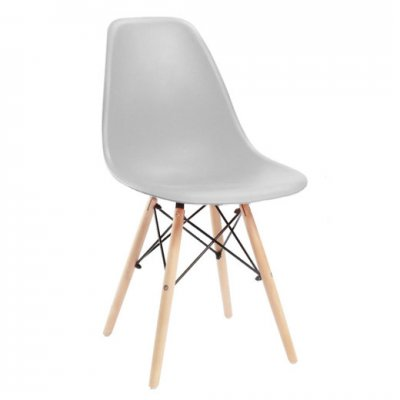 SPRINGOS Jedálenská stolička Milano modern - sivá - 1ks
