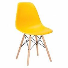 SPRINGOS Jedálenská stolička Milano modern - žltá - 1ks