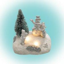 LED vianočná dekorácia na stôl, snehuliak