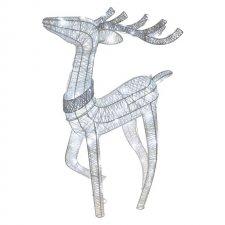 LED vianočný 3D sob, 76cm, vnútorný, studená biela, časovač