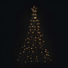 LED vianočný kovový strom, 180cm, vonkajšia, teplá b., čas.