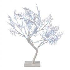 LED vianočný stromček, 40cm, vnútorný, studená biela, čas.
