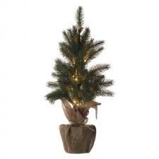 LED vianočný stromček, 52cm, 2× AA, vnútorný, teplá biela