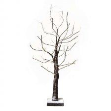 LED vianočný stromček, 60cm, 3× AA, vnútorný, teplá b., čas.