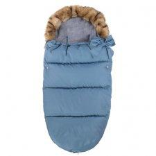 SPRINGOS Fusak Luxury s kožušinou 4v1 - Modrá