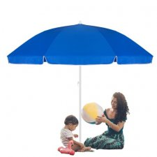SPRINGOS Plážový slnečník 240 cm - modrý