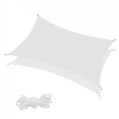 SPRINGOS Tieniaca plachta obdĺžnik 400x200cm - biela