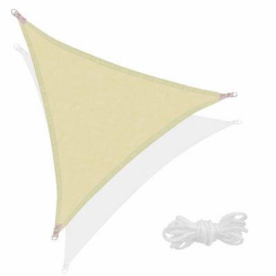SPRINGOS Tieniaca plachta trojuholník 350x350x350cm - olivová