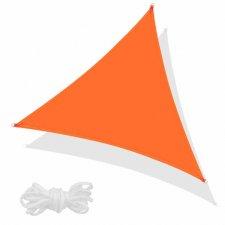 SPRINGOS Tieniaca plachta trojuholník 350x350x350cm - oranžová