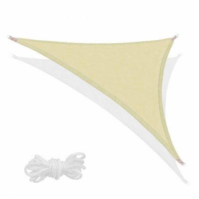 SPRINGOS Tieniaca plachta trojuholník 700x500x500cm - olivová
