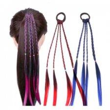 Syntetické vlasy farebné mini vrkoče - rôzne farby