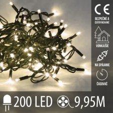 Vianočná LED svetelná reťaz vonkajšia na spájanie s časovačom - 200LED - 9,95M Teplá biela