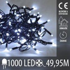 Vianočná LED svetelná reťaz vonkajšia s časovačom - 1000LED - 49,95M Studená biela