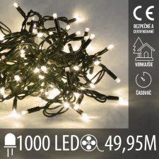 Vianočná LED svetelná reťaz vonkajšia s časovačom - 1000LED - 49,95M Teplá biela