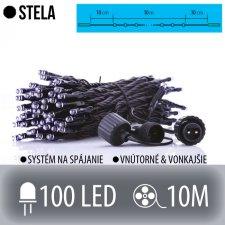 STELA spojovateľná LED svetelná reťaz vonkajšia - 100LED - 10M Studená biela