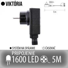 VIKTÓRIA napájací zdroj pre spojovateľné reťaze s časovačom - na 1600 LED - 5m