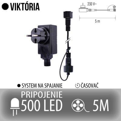 VIKTÓRIA napájací zdroj pre spojovateľné reťaze s časovačom - na 500 LED - 5m