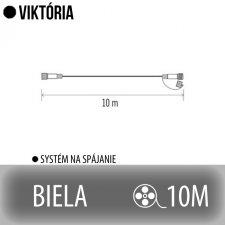VIKTÓRIA predlžovací kábel pre spojovateľné reťaze - 10m - biely