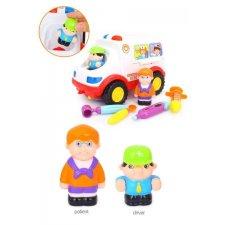Vzdelávacie autíčko s príslušenstvom: Sanitka