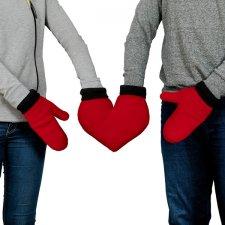 Zamilované rukavice - Červené srdce