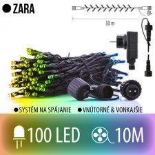 ZARA spojovateľná LED štartovacia súprava - svetelná reťaz + adapter - vonkajšia - 100LED - 10M Multicolour