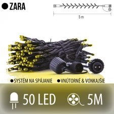 ZARA spojovateľná LED svetelná reťaz vonkajšia - 50LED - 5M Teplá biela