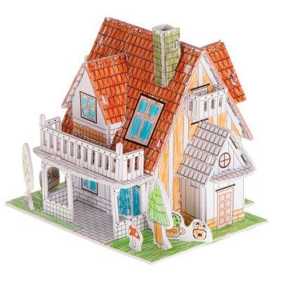 3D puzzle na vymaľovanie: Domček – 29 prvkov