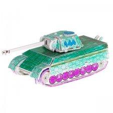 3D puzzle na vymaľovanie: Tank – 37 prvkov