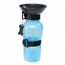Cestovná fľaša pre psa modrá